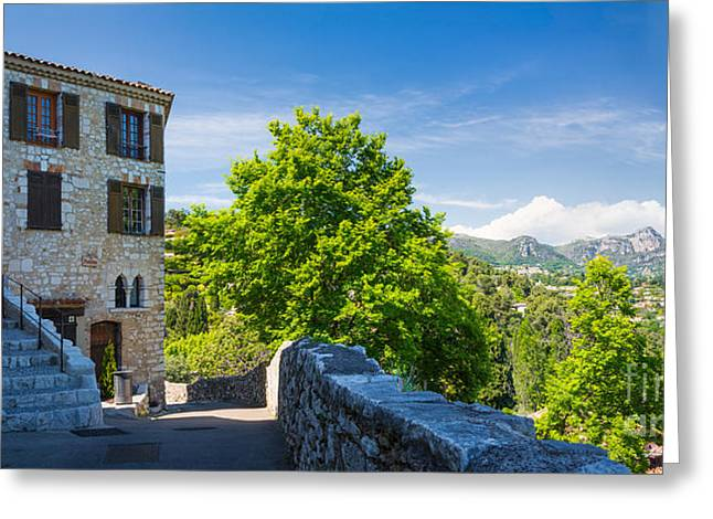 Saint-paul-de-vence Panorama Greeting Card by Inge Johnsson