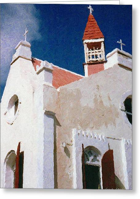 Saint Pauls Conversion Church Saba The Netherlands Antilles Greeting Card by Susan Schroeder