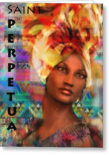 Saint Perpetua Of Carthage Greeting Card