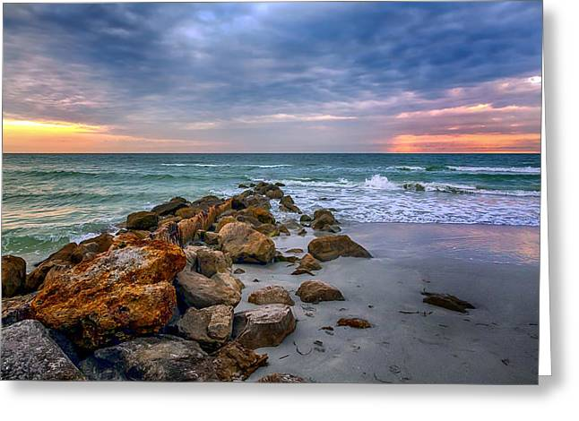 Saint Pete Beach Stormy Sunset Greeting Card
