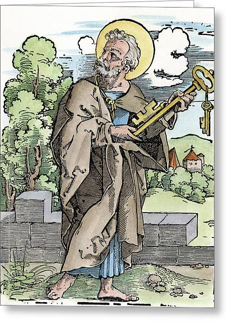 Saint Peter (c Greeting Card by Granger