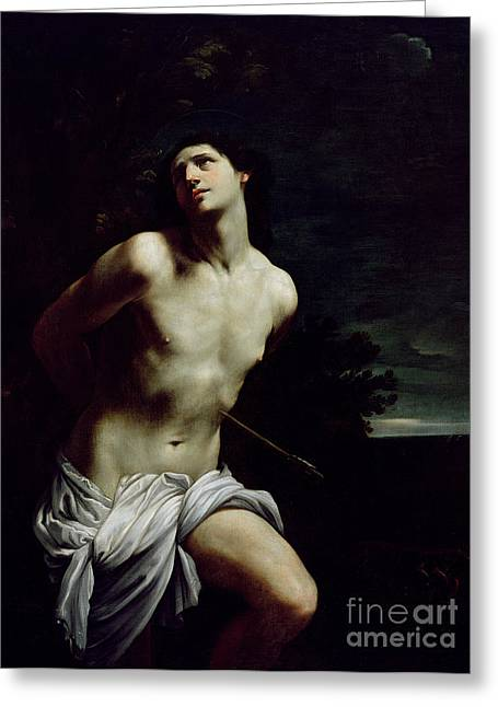Saint Sebastian Greeting Card by Guido Reni