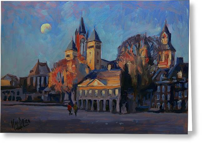 Saint Servaas Basilica In The Morning Greeting Card