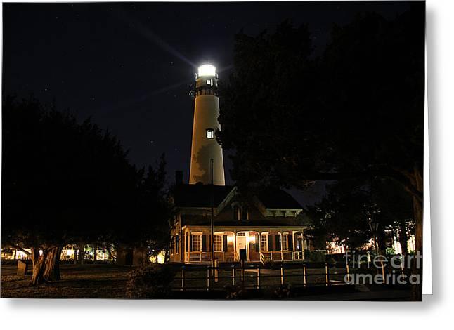 Saint Simons Lighthouse Greeting Card by Leslie Kirk