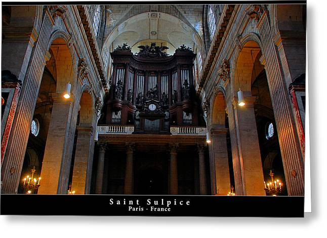 Saint Sulpice Greeting Card by Dany Lison