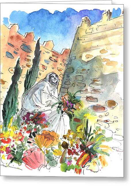 Saint Teresa Of Avila Greeting Card by Miki De Goodaboom