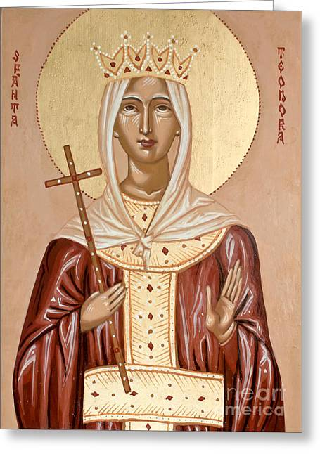 Saint Theodora Of Arta Greeting Card by Olimpia - Hinamatsuri Barbu