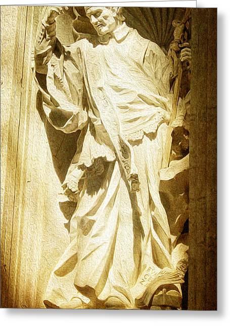 Saint Vincent De Paul At Vatican Greeting Card
