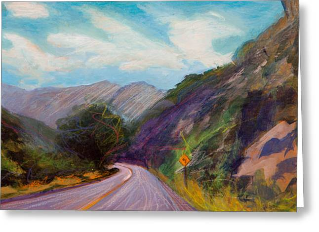 Saint Vrain Canyon Greeting Card by Athena  Mantle