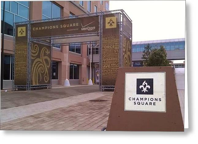 Saints - Champions Square - New Orleans La Greeting Card