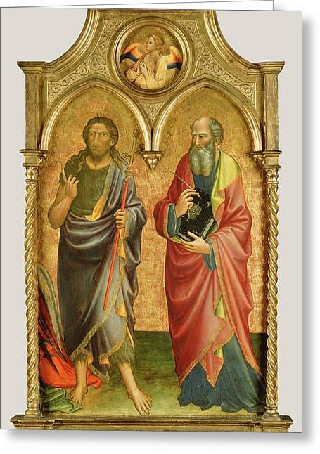 Saints John The Baptist And John The Evangelist Mariotto Di Greeting Card