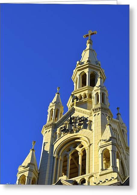 Saints Peter And Paul Church San Francisco Greeting Card by Alex King