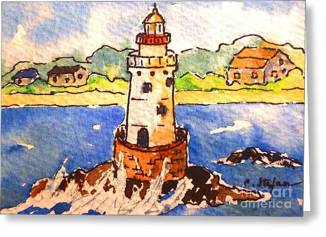 Sakonnet Lighthouse - Rhode Island - Usa Greeting Card