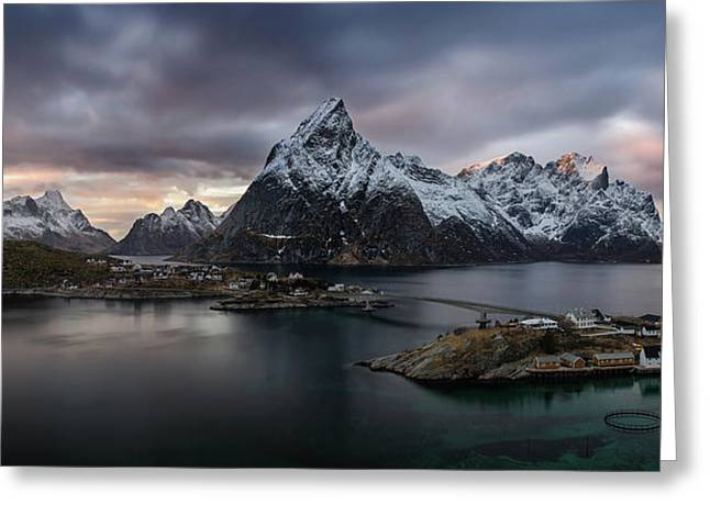 Sakrisoya Village On Reinefjorden Among Greeting Card by Panoramic Images