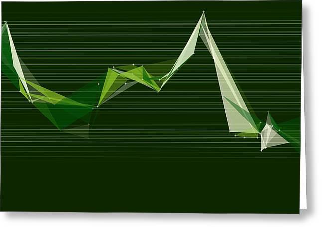 Salad Polygon Triangle Graph Greeting Card by Frank Ramspott