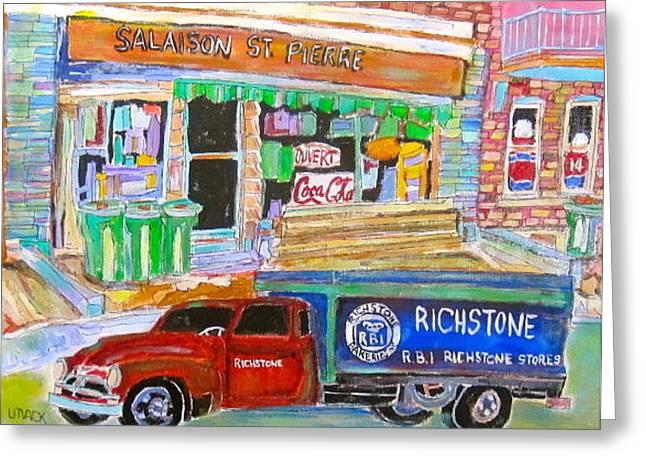 Salaison St. Pierre Greeting Card by Michael Litvack