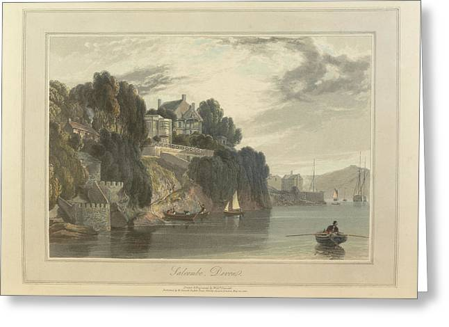 Salcombe Greeting Card by British Library