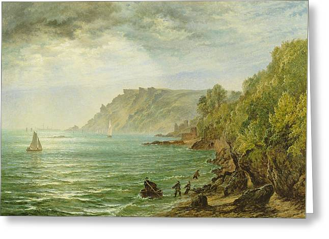 Salcombe Estuary, South Devon, 1882 Greeting Card