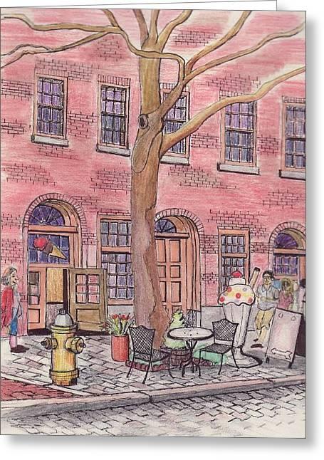 Salem Ice Cream Shop Greeting Card by Paul Meinerth