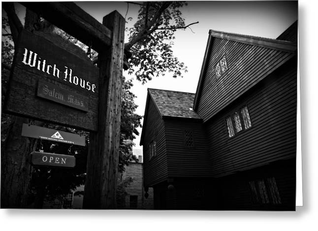 Salem's Witch House Greeting Card by Stephen Stookey