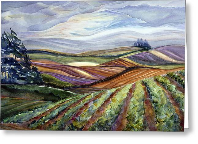Salinas Tapestry Greeting Card by Jen Norton