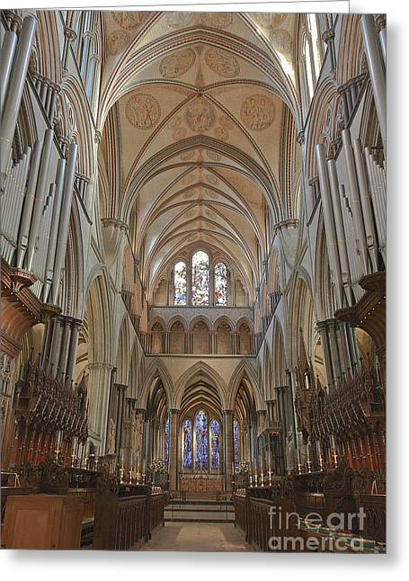 Salisbury Cathedral Quire And High Altar Greeting Card