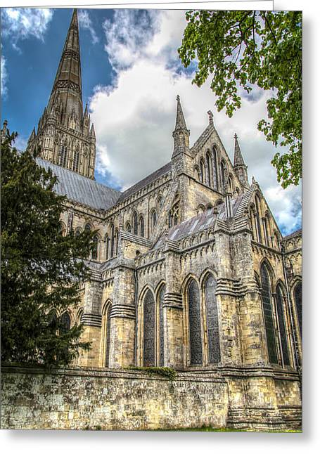 Salisbury In The Morning Greeting Card