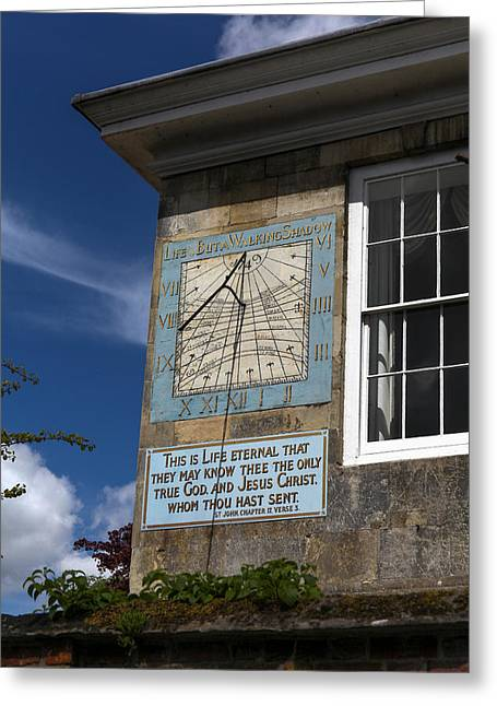 Greeting Card featuring the photograph Salisbury Sundial by Ross Henton