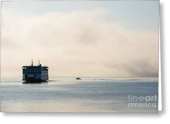 Salish Into The Fog Greeting Card by Mike  Dawson