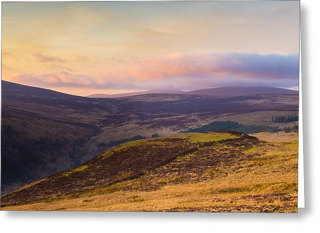 Sally Gap In Wicklow Mountains At Sunset Greeting Card