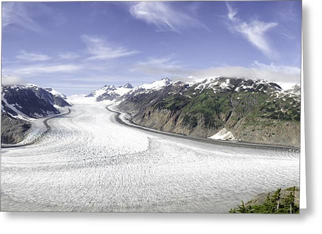 Salmon Glacier Greeting Card by Lisa Hufnagel