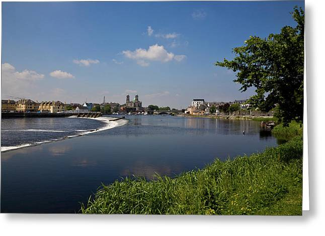 Salmon Leap Weir, Athlone, County Greeting Card