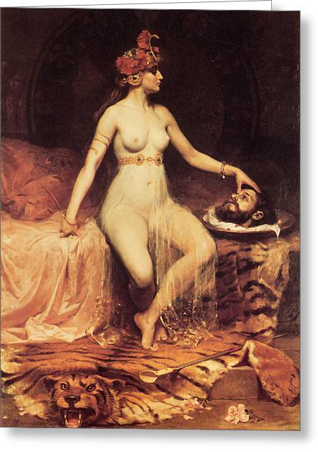 Salome Greeting Card by Pierre Bonnaud