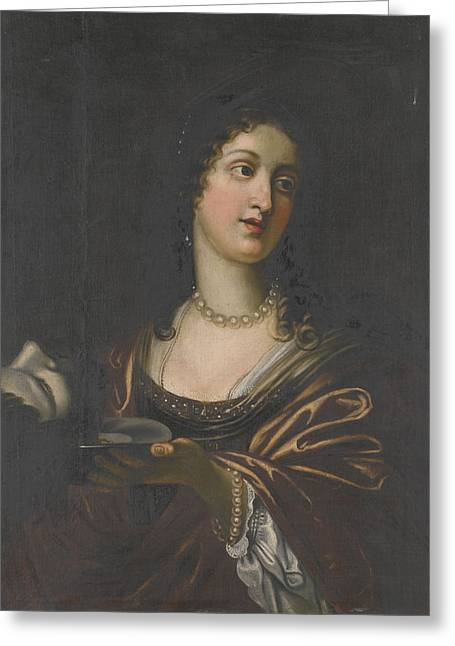 Salome With The Head Of St John The Baptist Greeting Card