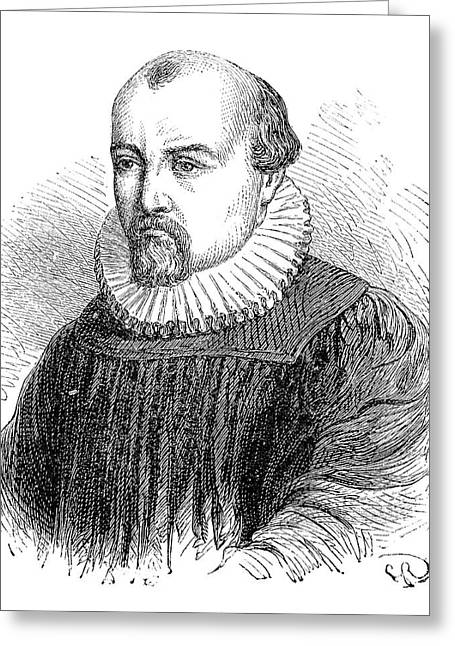 Salomon De Caus Greeting Card by Science Photo Library