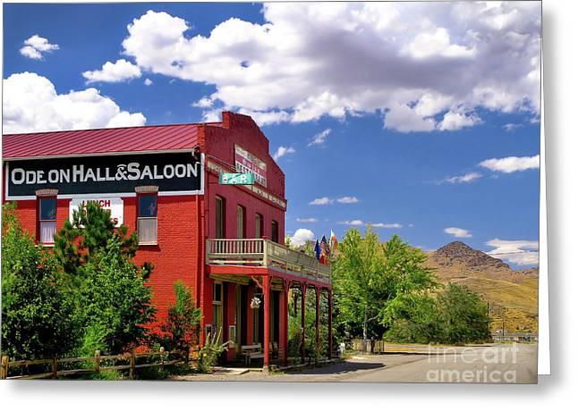 Saloon - Dayton - Nevada Greeting Card