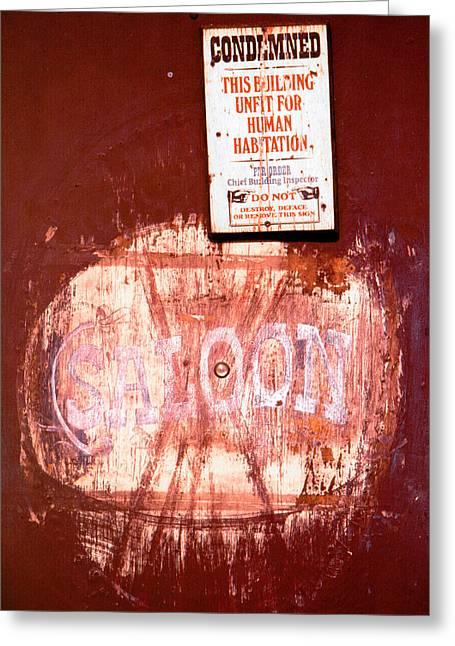 Saloon Greeting Card