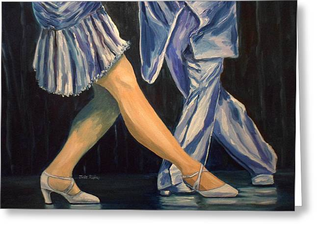 Salsa Stepping Greeting Card