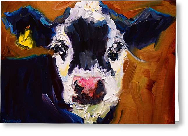 Salt And Pepper Cow 2 Greeting Card