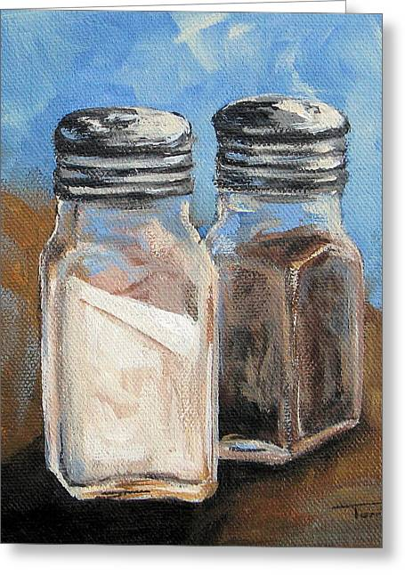Salt And Pepper Iv Greeting Card by Torrie Smiley