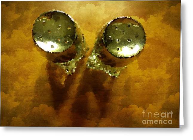 Salt And Pepper Greeting Card by Mary Machare