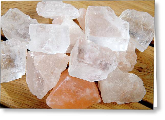 Salt Crystals Greeting Card