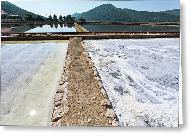Salt Evaporation Ponds Greeting Card