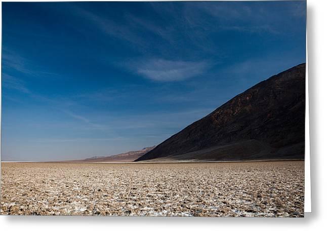 Salt Flat, Western Hemisphere, Badwater Greeting Card