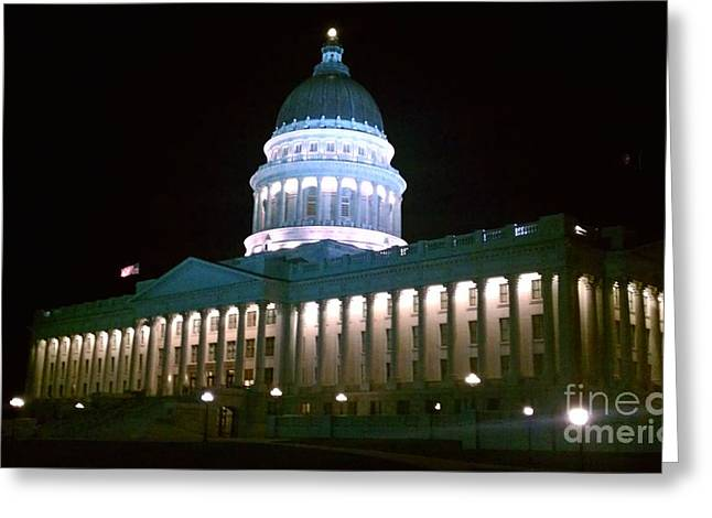 Greeting Card featuring the photograph Salt Lake Capitol Building by Chris Tarpening