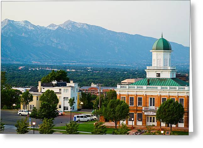 Salt Lake City Council Hall, Capitol Greeting Card by Panoramic Images