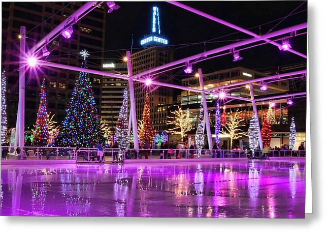 Salt Lake City - Skating Rink - 2 Greeting Card by Ely Arsha