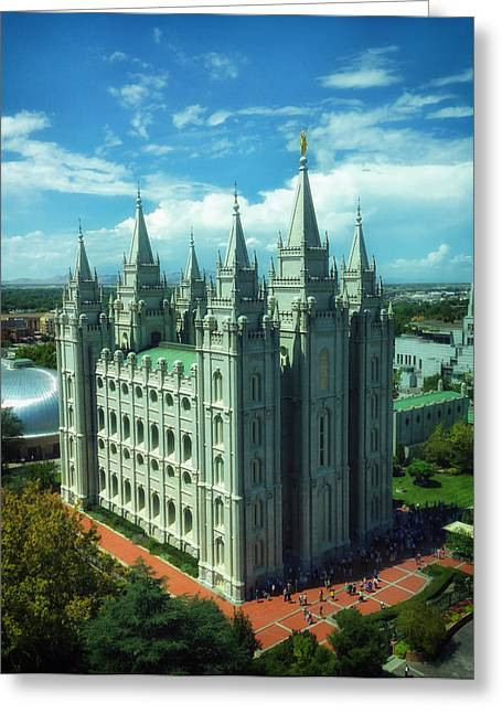 Salt Lake City Temple Greeting Card by Mountain Dreams