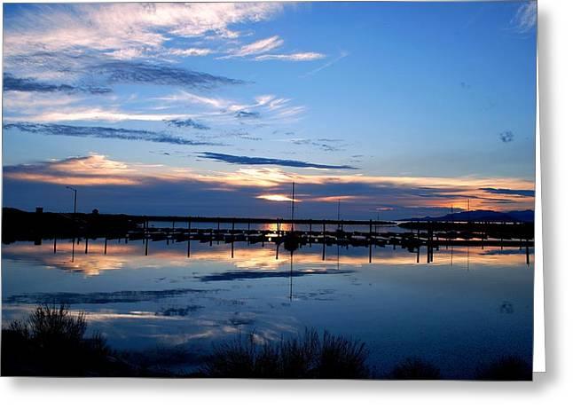 Salt Lake Marina Sunset Greeting Card by Matt Harang