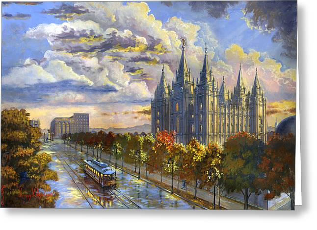 Salt Lake Solace Greeting Card by Jeff Brimley
